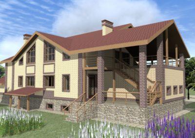 Индивидуальный жилой дом площадью 496,70 кв.м.