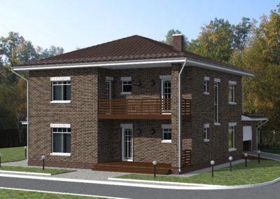 Индивидуальный жилой дом площадью 262,4 кв.м.