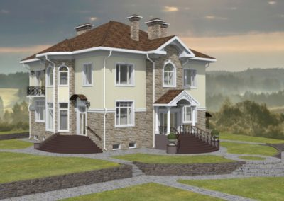 Индивидуальный жилой дом площадью 524,00 кв.м.