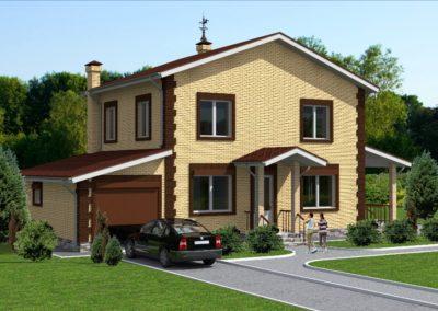 Индивидуальный жилой дом площадью 135,70 кв.м.