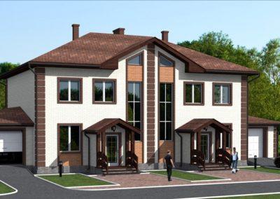 Индивидуальный жилой дом на 2 семьи