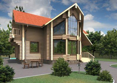 Индивидуальный жилой дом площадью 124,4 кв.м.