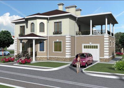Индивидуальный жилой дом площадью 491,60 кв.м.