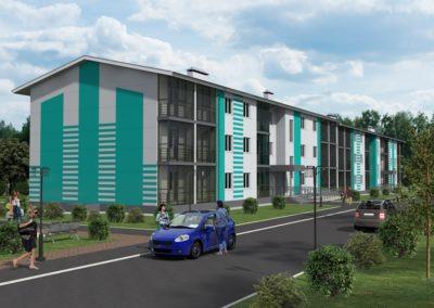 Группа многоквартирных жилых домов в г. Оренбург