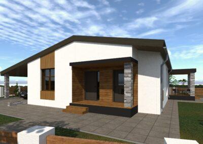 Индивидуальный жилой дом площадью 135,1 кв.м